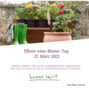 12. März: Pflanz-eine-Blume-Tag
